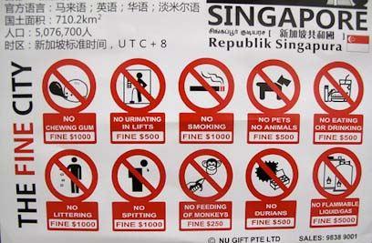 Сингапур правила