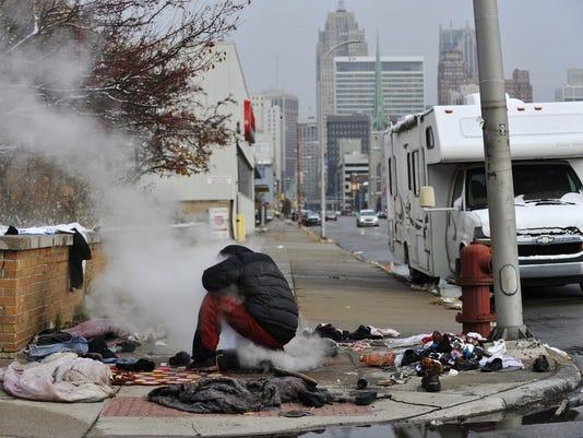 Детройт, Мичиган бедность