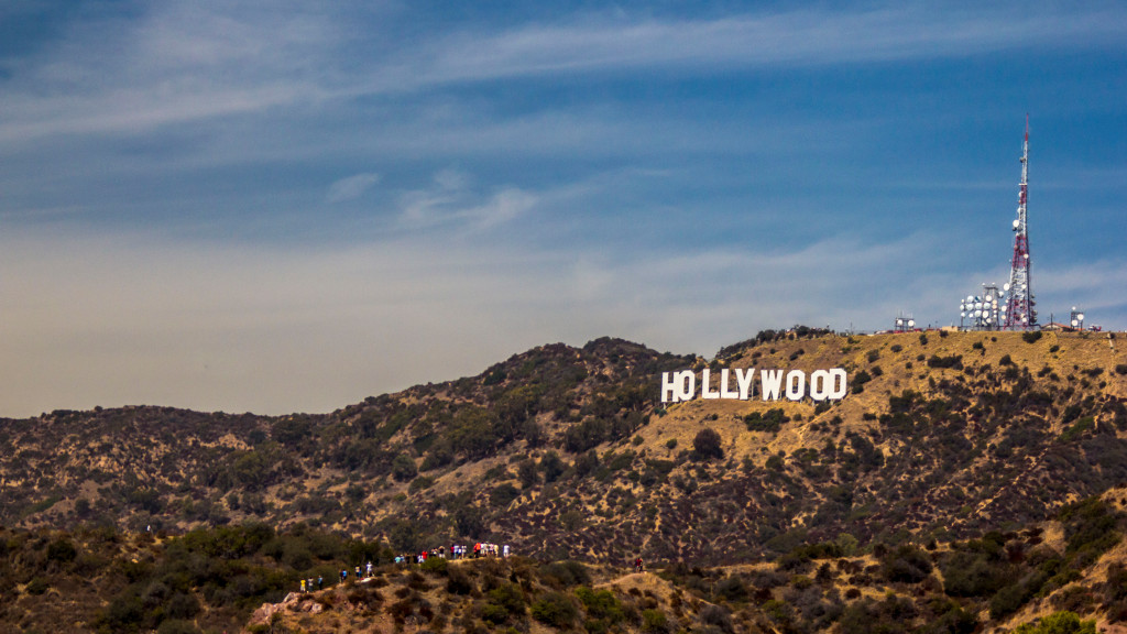Надпись Hollywood Лос-Анджелес