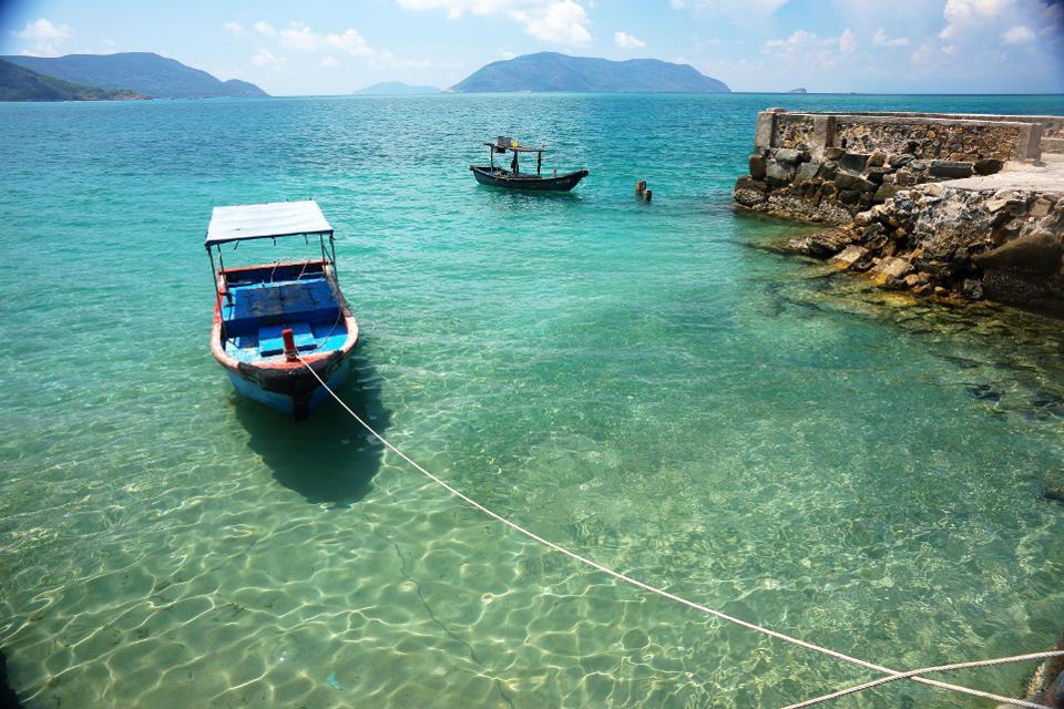 Пляж в Кон Дао, Южный Вьетнам.