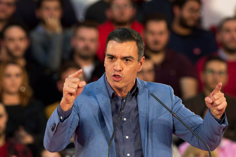 Исполняющий обязанности премьер-министра Педро Санчес