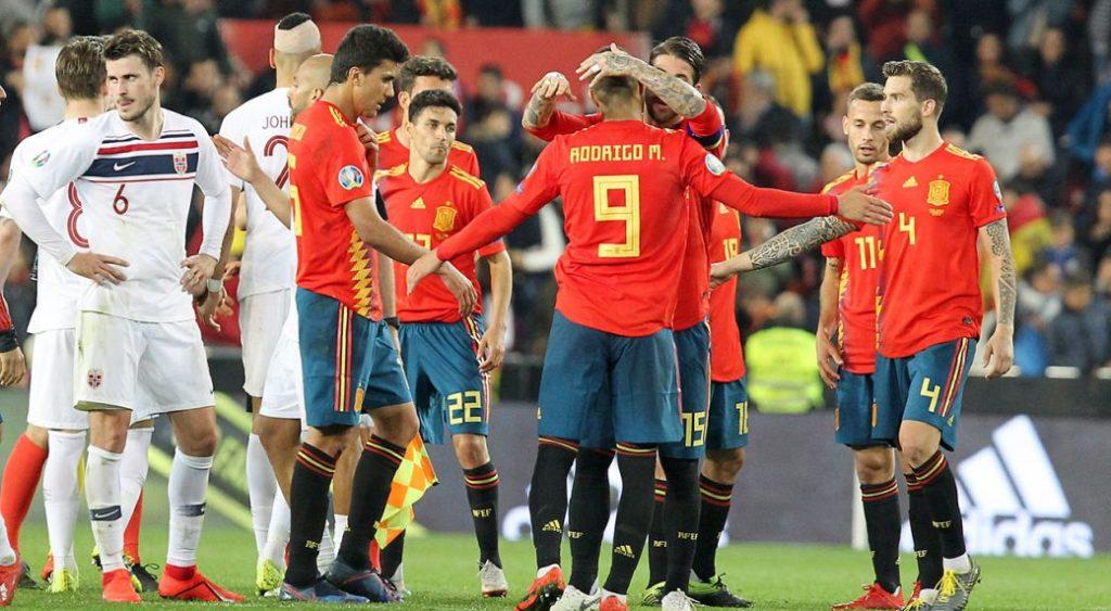 Норвегия Испания Евро 2020