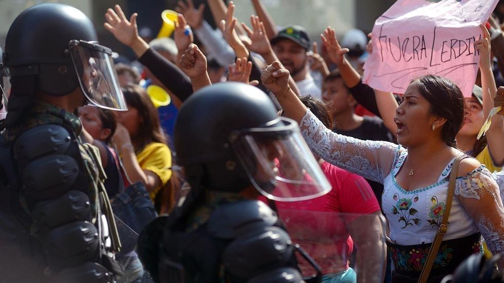 Акции протестов Эквадор