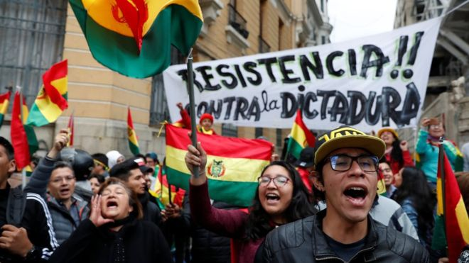 Акции протестов Боливия