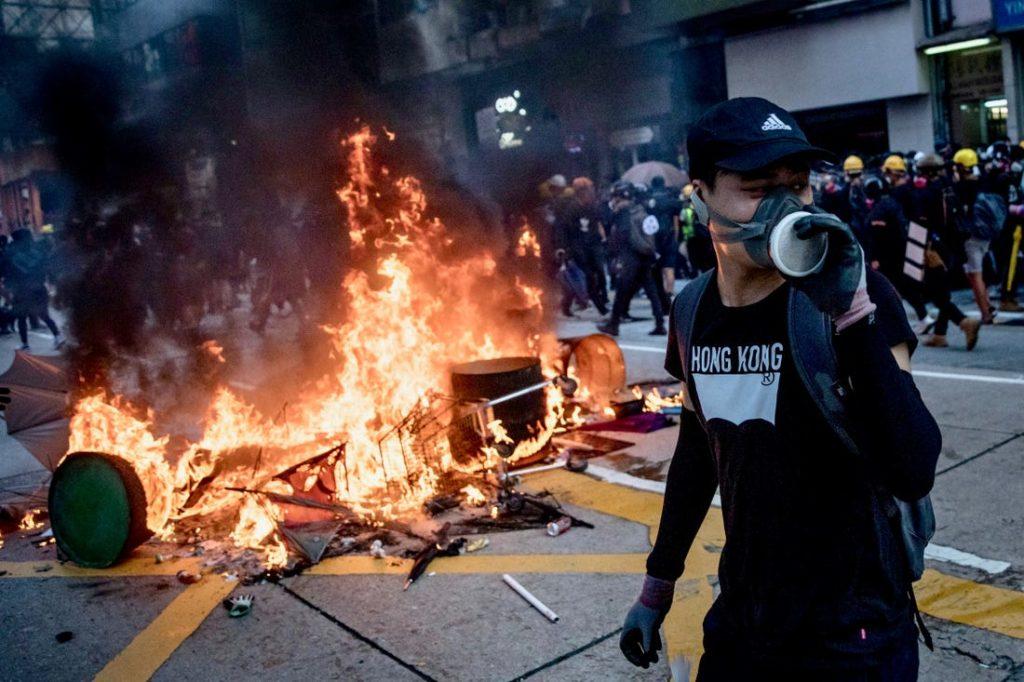 Акции протестов Гонконг