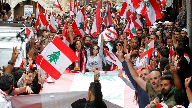 Акции протестов Ливан