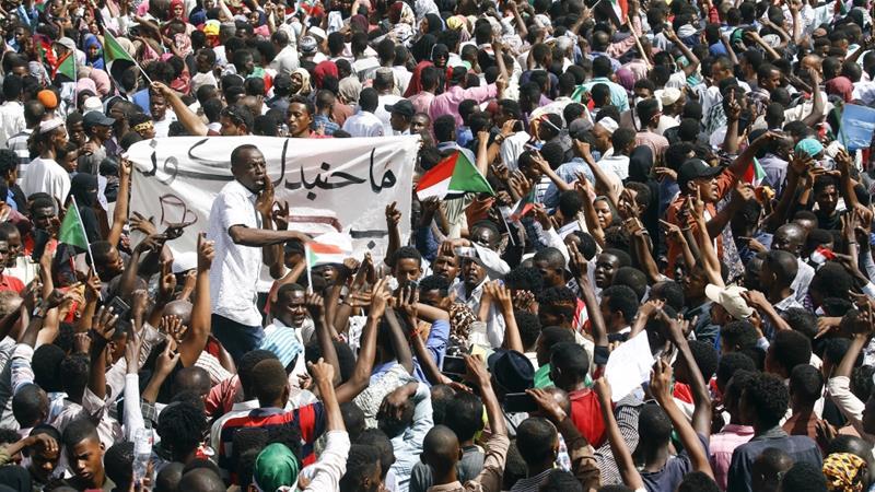 Акции протестов Судан
