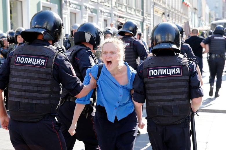 Россия протесты