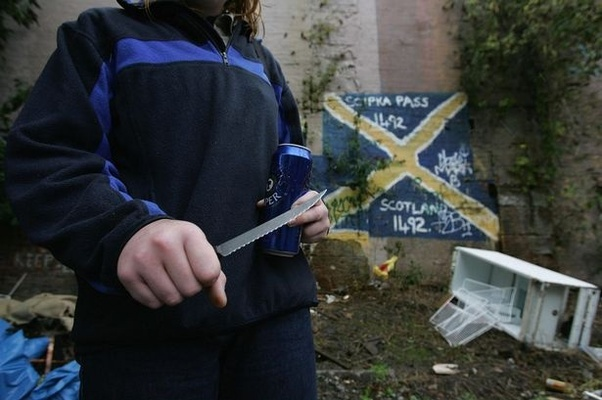 Глазго, Шотландия опасно
