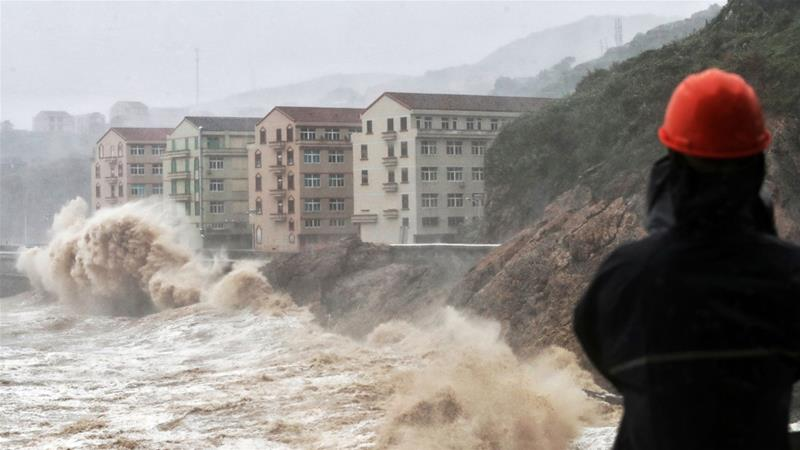 Из-за тайфуна Лекима погибли 72 человека в Китае