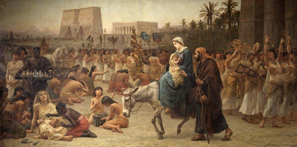 Библия говорит, что Мария въехала в Вифлеем на осле