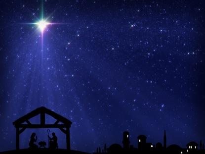 Библия говорит, что звезда светила над яслями в Рождество