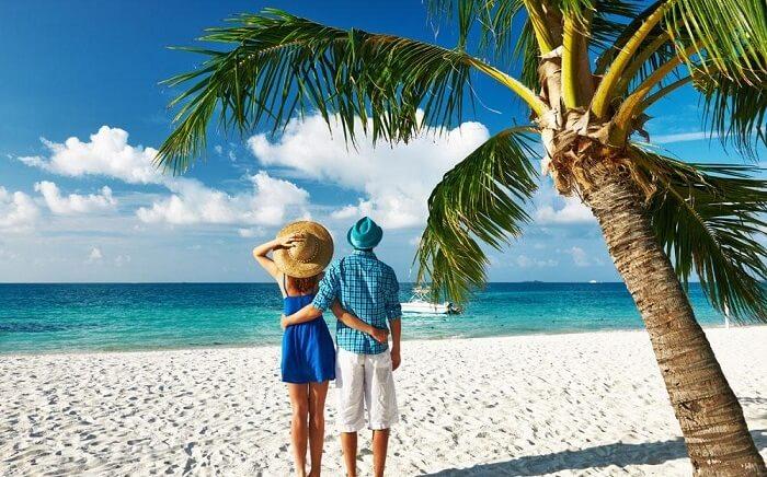 Пляж Мальдивские острова
