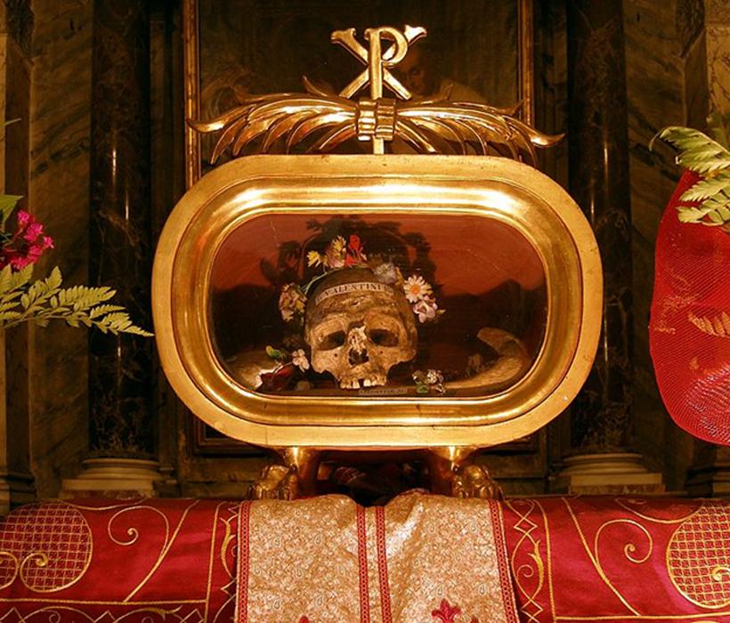 Святой Валентин похоронен в Дублине