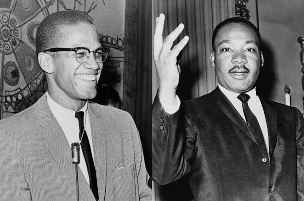 Мартин Лютер Кинг Малкольмом Икс