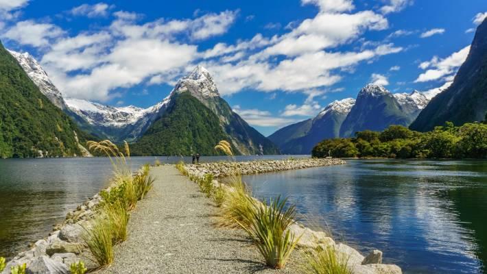 Бухта Милфорд Новая Зеландия