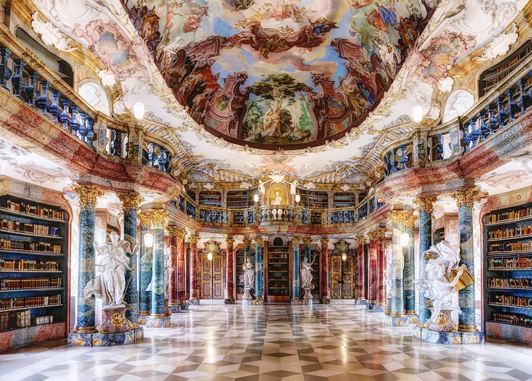 Самые красивые библиотеки мира: монастыри Виблинген и Шуссенрид