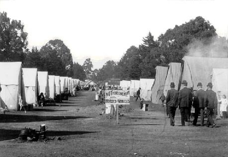 лагерь беженцев парк Золотые Ворота