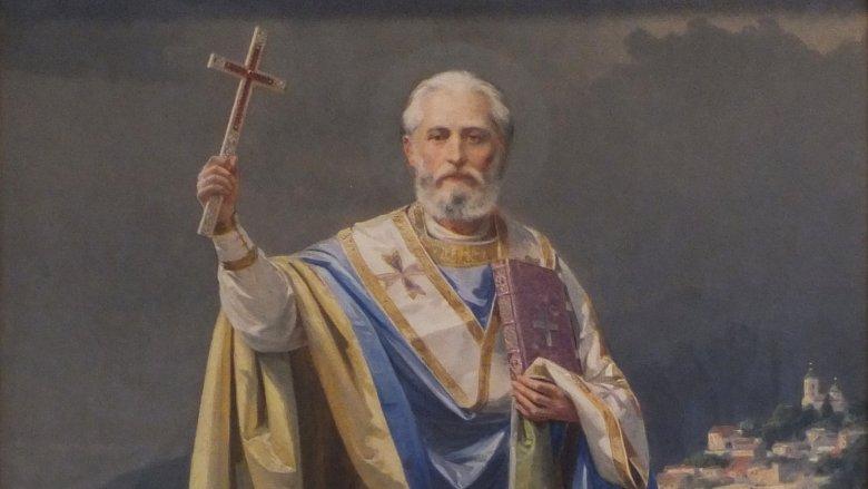 Святой Николай избил человека