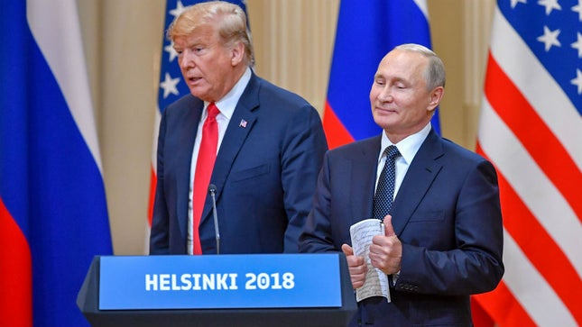Трамп Путина