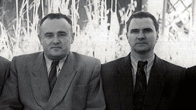 Валентин Глушко и Сергей Королев