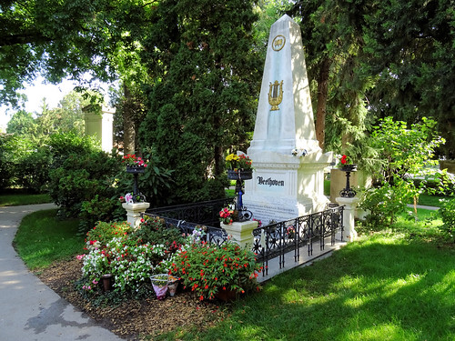 Могила Бетховена, кладбище Zentralfriedhof, Вена
