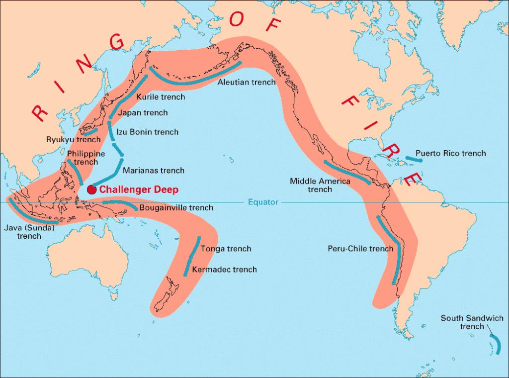 Мексика расположена на Тихоокеанском огненном кольце