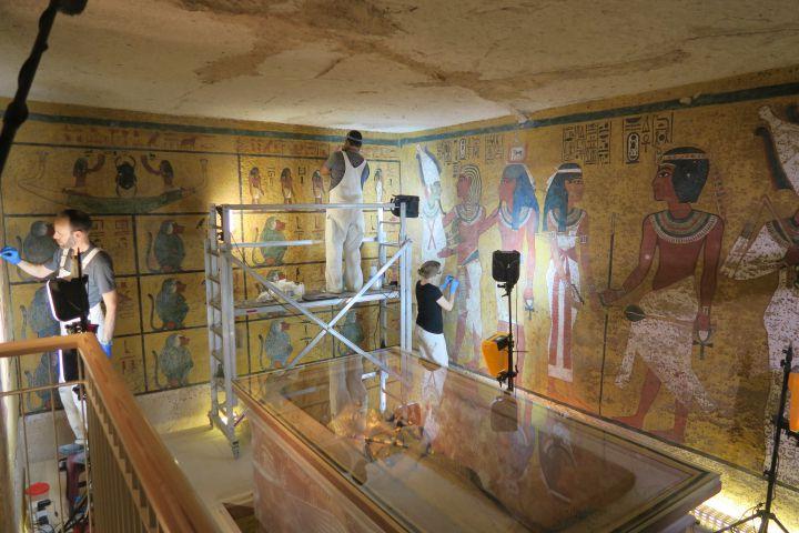 Гробница фараона была недавно отреставрирована