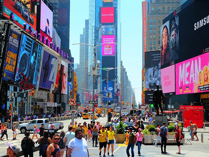 Многие жители Нью-Йорка не любят ходить на Таймс-сквер