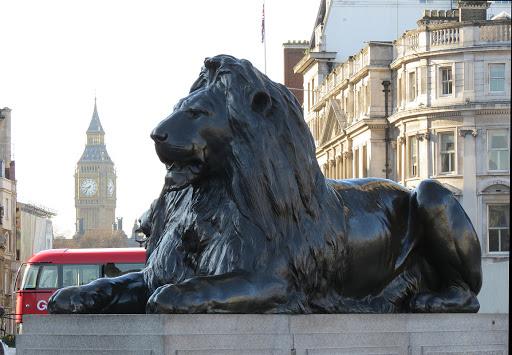 Биг-Бен и львы с Трафальгарской площади