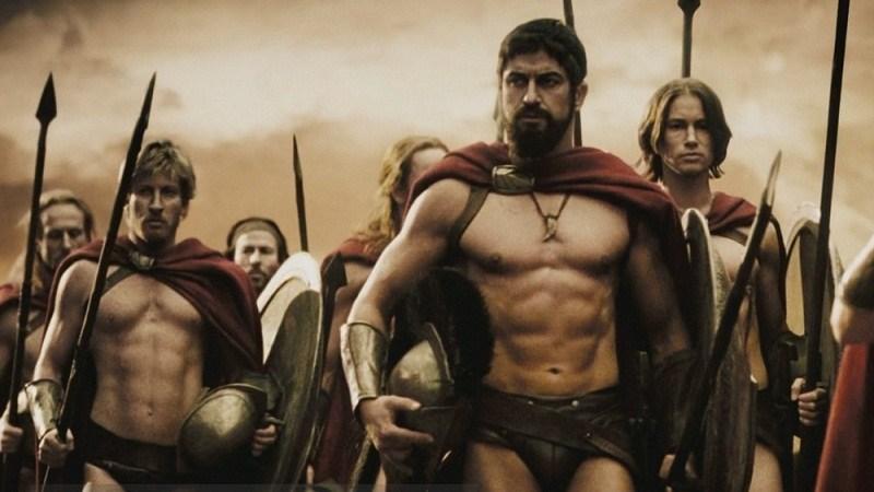 Спартанские солдаты