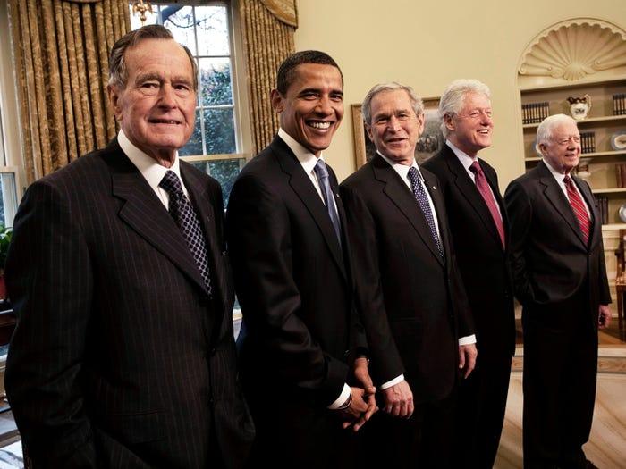 Встреча пяти президентов США в Белом доме