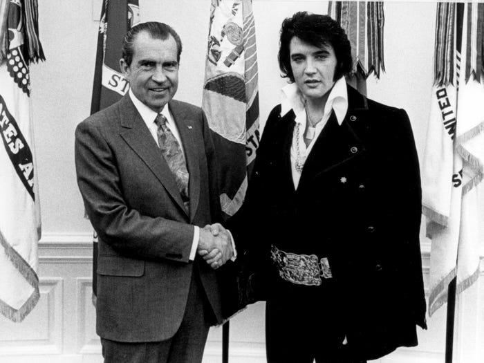 Элвис Пресли встретился с президентом Никсоном (декабрь 1970 года)