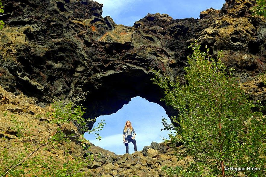 Диммуборгир, недалеко от озера Миватн, Исландия