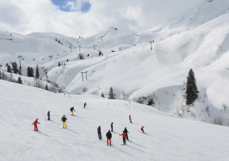 Лех, Австрия: много снега