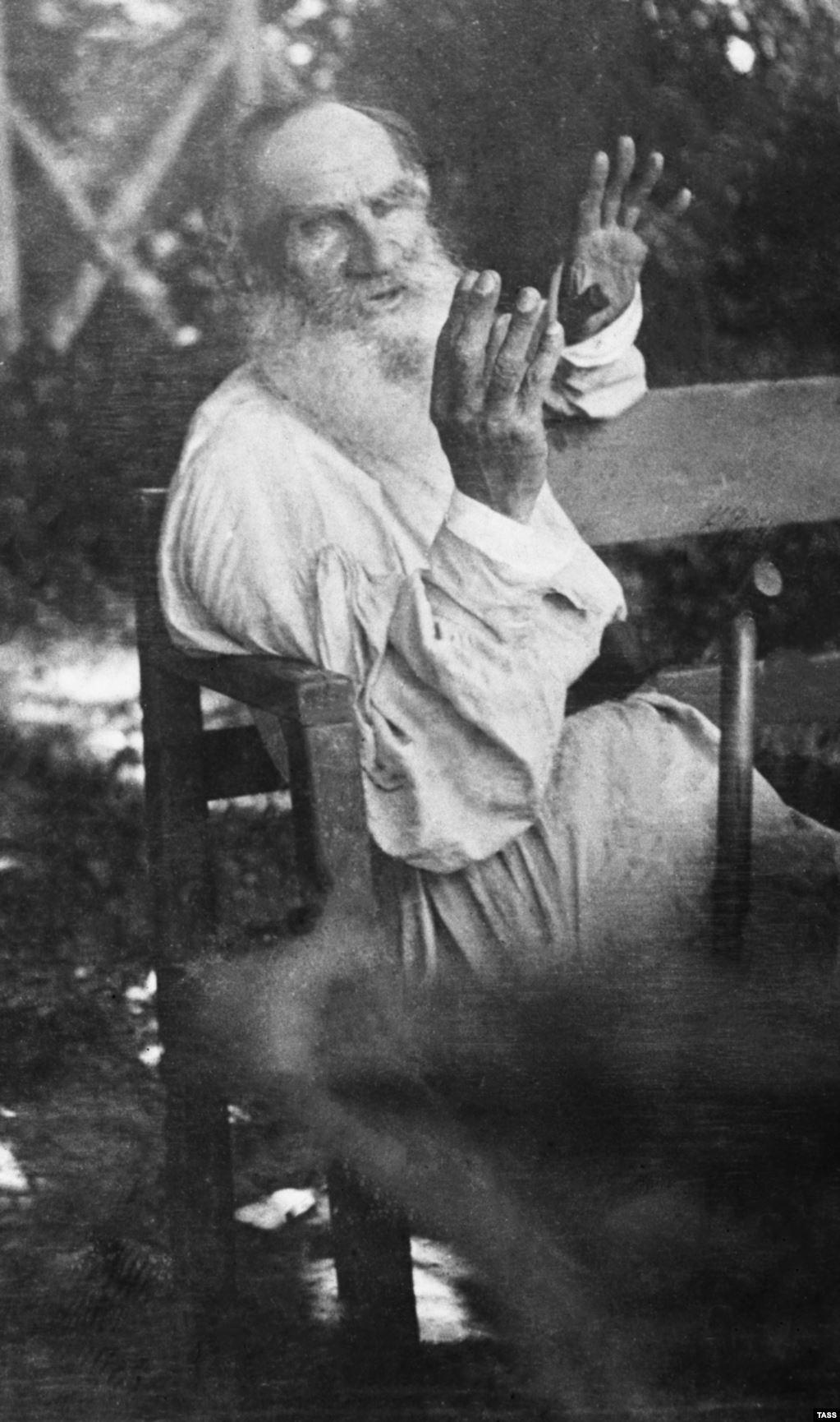 Редкая фотография Толстого 1909 года