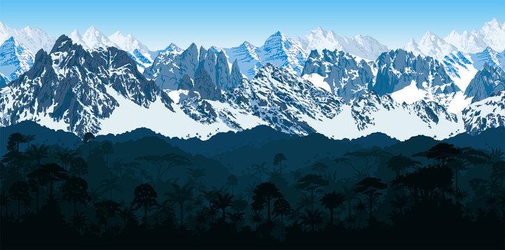 Самый длинный горный хребет в мире