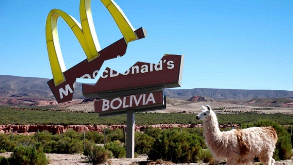 В Боливии нет ресторанов Макдоналдс