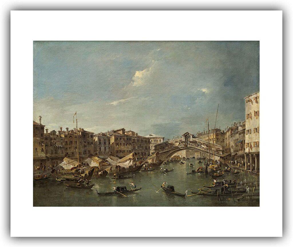 """Франческо Гарди, """"Венеция, вид на мост Риальто"""" (1760-е)"""