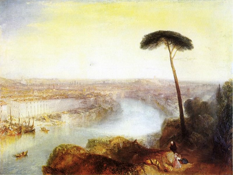 """Уильям Тернер, """"Рим, с горы Авентин"""" (1836)"""