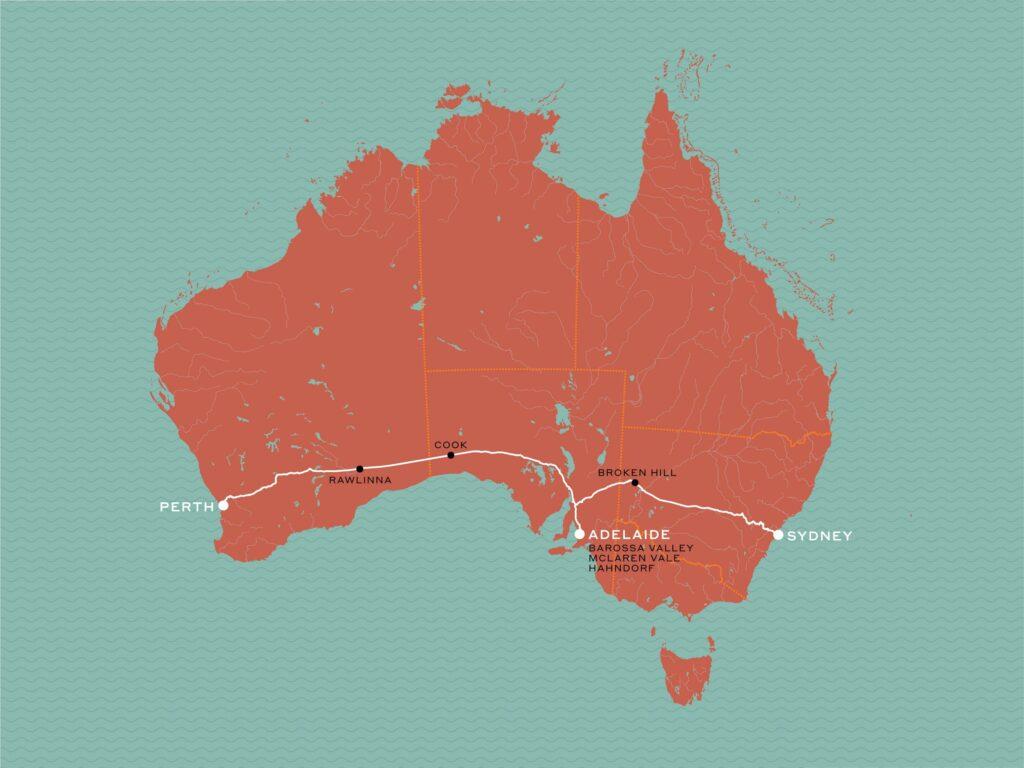 Между Сиднеем и Пертом проходит самая длинная в мире железная дорога