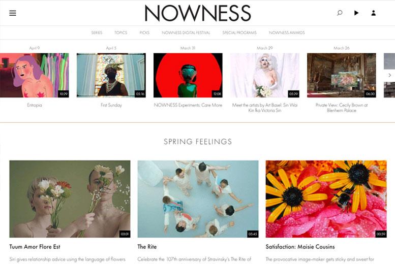 Лучший дизайн сайта 2017: nowness.com - Великобритания