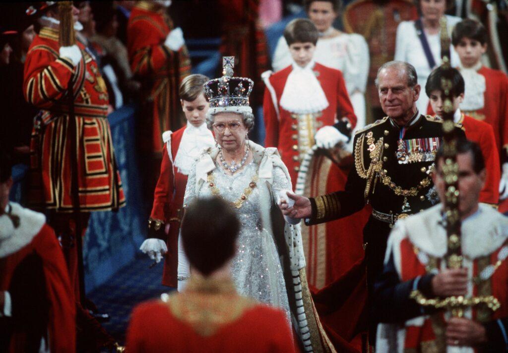 Во время церемонии открытия парламента Великобритании