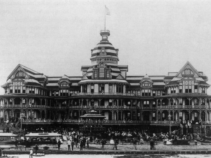 Отель Бич - остров Галвестон, США
