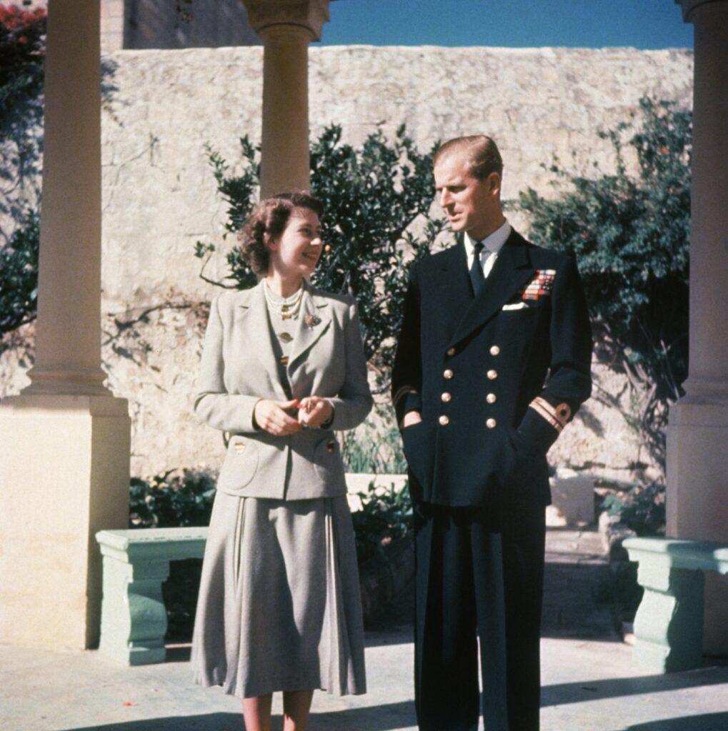 Елизавета и герцог Эдинбургский на Мальте