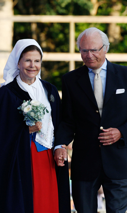 Король Карл XVI Густав и королева Сильвия, 45 лет - Швеция