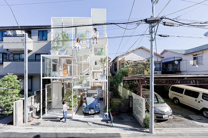 Прозрачный дом, Токио, Япония