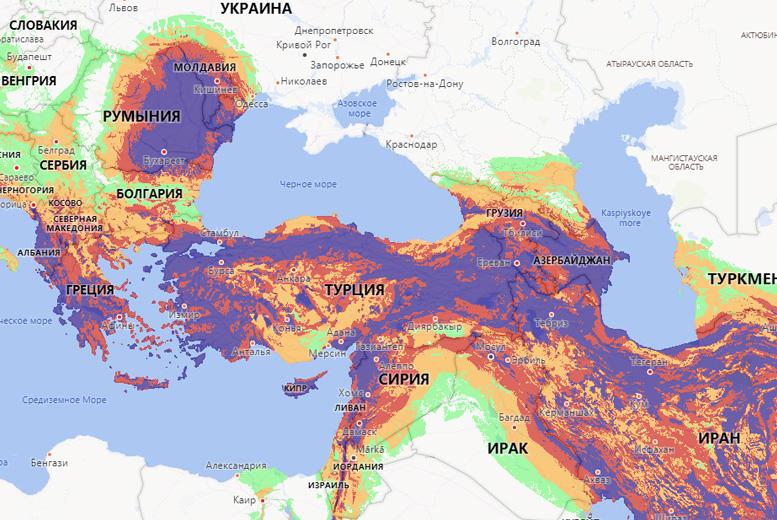 Самая полная онлайн-карта риска землетрясений