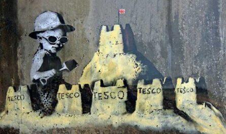 7 городов Великобритании, где есть граффити Бэнкси