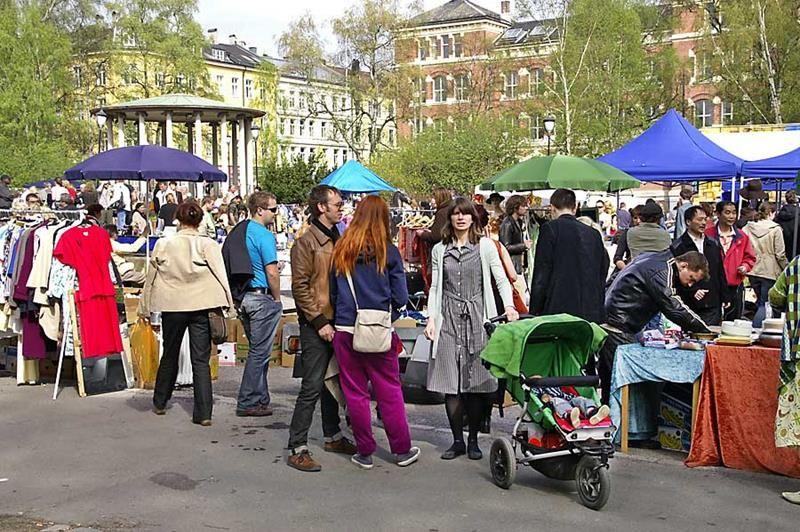 Блошиный рынок Биркелунден, Осло, Норвегия